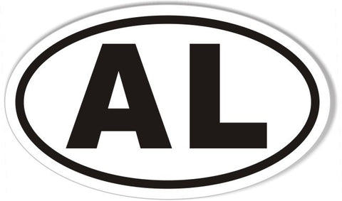 AL Alabama Euro Oval Sticker