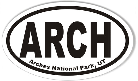 Arches National Park, UT Oval Bumper Sticker