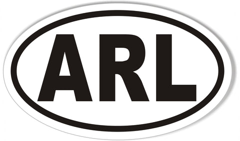 ARL Custom Oval Bumper Stickers