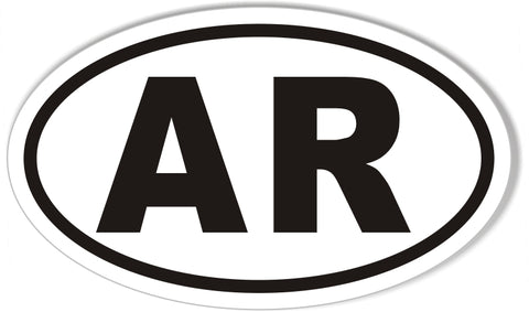AR Arkansas Euro Oval Sticker