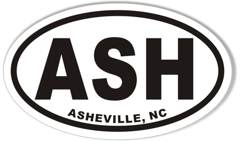 ASH ASHEVILLE, NC Euro Oval Stickers