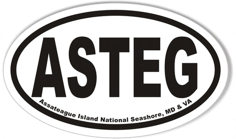 ASTEG Assateague Island National Seashore, MD & VA Oval Bumper Sticker