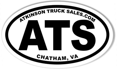 ATS 3x5 Inch Custom Oval Bumper Stickers