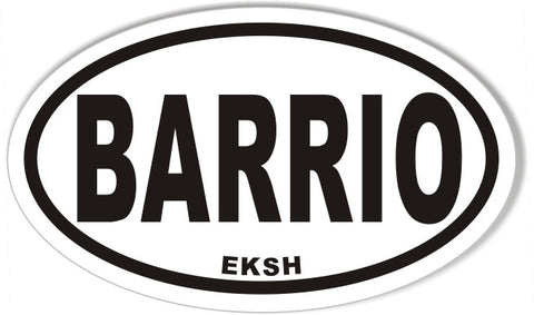 BARRIO Oval Bumper Stickers