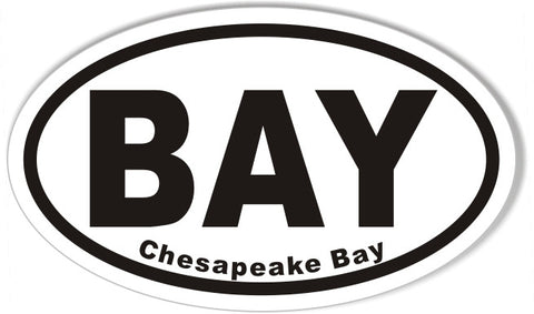 BAY Chesapeake Bay Oval Bumper Stickers