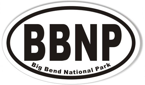 Big Bend National Park Oval Sticker