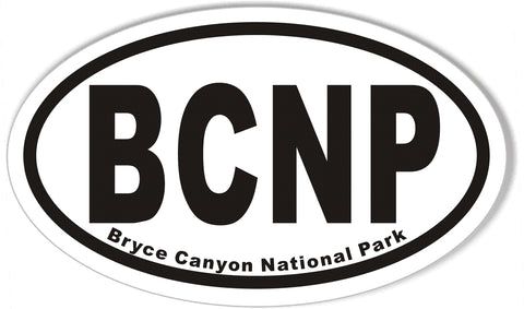BCNP Bryce Canyon National Park Oval Bumper Stickers