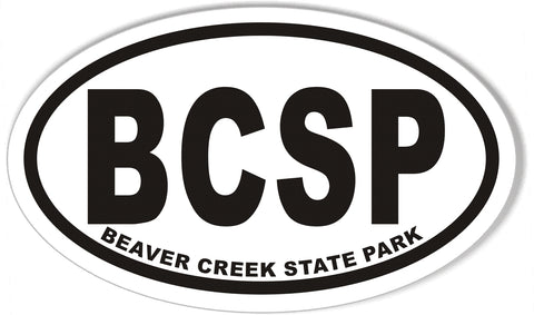 BCSP BEAVER CREEK STATE PARK Oval Bumper Stickers