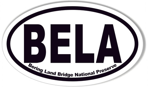 BELA Bering Land Bridge National Preserve Oval Bumper Stickers