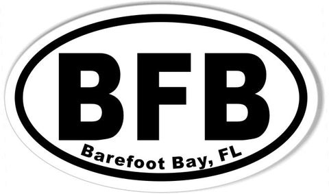 BFB Barefoot Bay, FL Oval Bumper Stickers