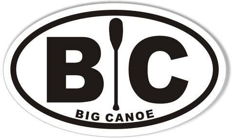 BC BIG CANOE Custom Oval Bumper Stickers