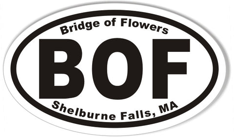 BOF Bridge of Flowers Custom Oval Bumper Stickers