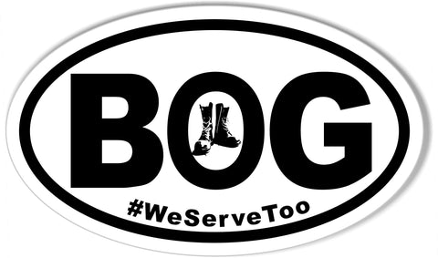 Boots On The Ground Oval Bumper Sticker