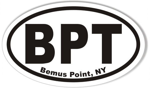 BPT Bemus Point, NY Oval Bumper Stickers