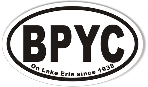 BPYC Oval Bumper Stickers