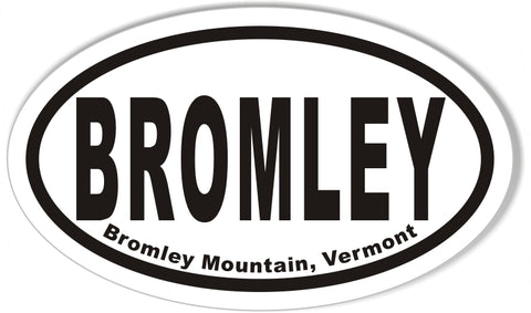 BROMLEY Bromley Mountain, Vermont Oval Stickers
