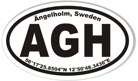 AGH Ängleholm, Sweden Oval Bumper Stickers