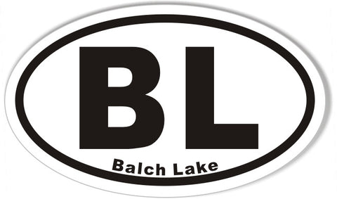 BL Balch Lake Custom Euro Oval Stickers