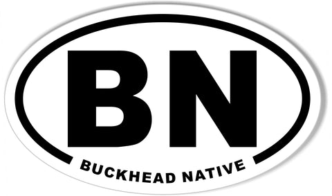 BN BUCKHEAD NATIVE Euro Oval Stickers