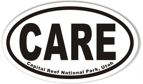 CARE Capital Reef National Park, Utah Oval Sticker