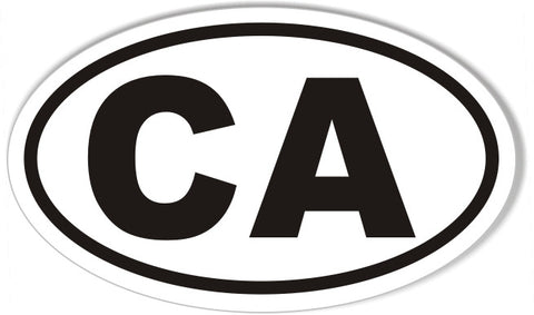 CA California Euro Oval Sticker