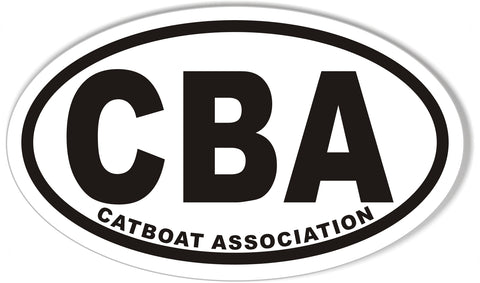 CBA CATBOAT ASSOCIATION Oval Bumper Stickers