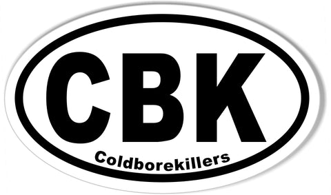 CBK Coldborekillers Custom Oval Bumper Stickers