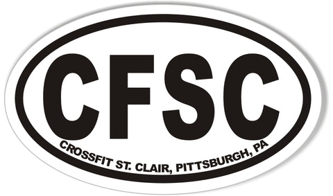 CFSC Custom Oval Bumper Stickers