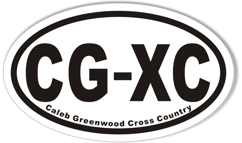 CG-XC Oval Bumper Stickers