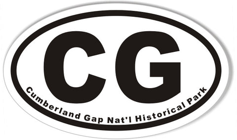 CG Cumberland Gap Nat'l Historical Park Oval Bumper Stickers