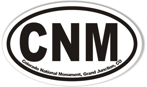 CNM Colorado National Monument, Grand Junction, CO Oval Bumper Stickers