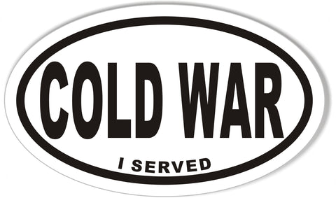 COLD WAR I SERVED Oval Bumper Stickers