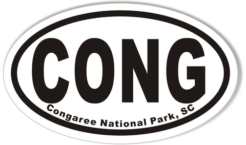 CONG Congaree National Park, SC Oval Bumper Sticker