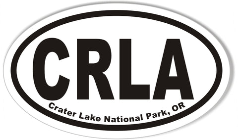 Crater Lake National Park, OR Oval Bumper Sticker