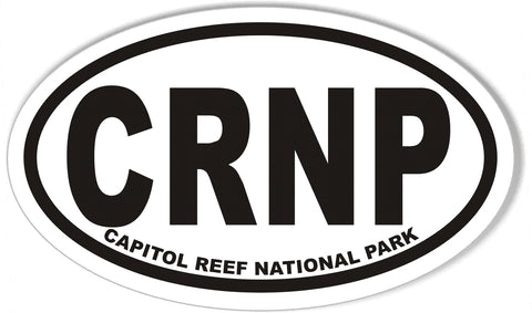 CRNP CAPITOL REEF NATIONAL PARK Oval Bumper Stickers