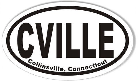 CVILLE Collinsville, Connecticut Euro Oval Stickers