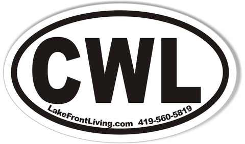 CWL Custom Oval Bumper Stickers