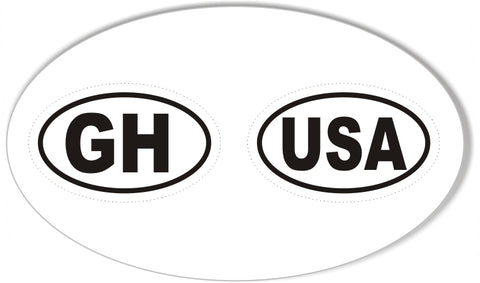 Country Bike Mini Oval Bumper Stickers