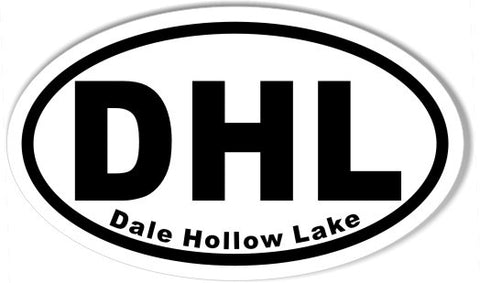 DHL Dale Hollow Lake Oval Stickers