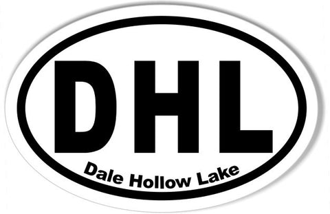 DHL Dale Hollow Lake Euro Oval Stickers