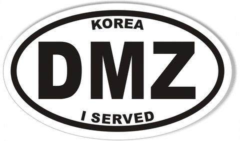 KOREA DMZ I SERVED Oval Bumper Sticker
