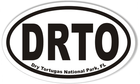 Dry Tortugas National Park, FL Oval Bumper Stickers