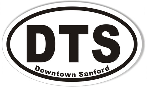 DTS Downtown Sanford Oval Bumper Stickers