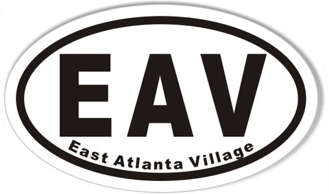 EAV East Atlanta Village Euro Oval Stickers