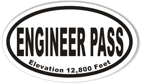 ENGINEER PASS Oval Bumper Stickers
