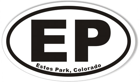 EP Estes Park, Colorado Oval Bumper Stickers