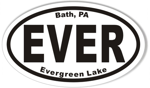 ELK Evergreen Lake Oval Sticker