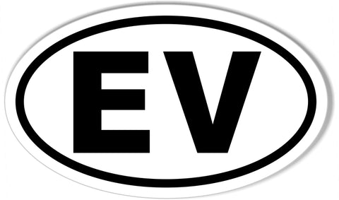 EV Electric Vehicle Euro Oval Bumper Sticker