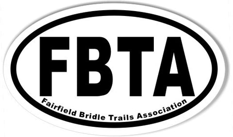 FBTA Fairfield Bridle Trails Association 3x5 Inch Custom Oval Bumper Stickers