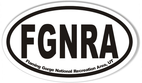 FGNRA Flaming Gorge National Recreation Area, UT Oval Bumper Stickers